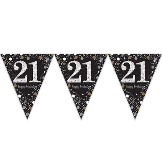 Vlaggenlijn 21 jaar sparkling gold