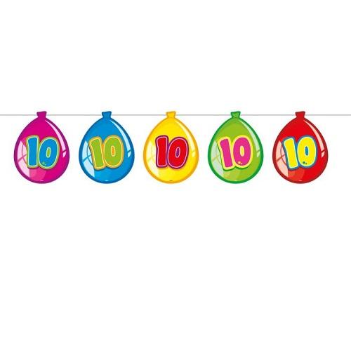 Vlaggenlijn ballon 10 jaar