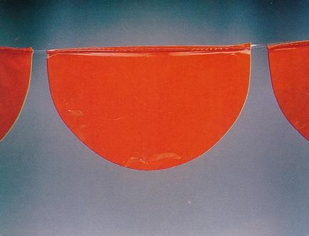 Vlaggenlijn bol oranje 10mtr