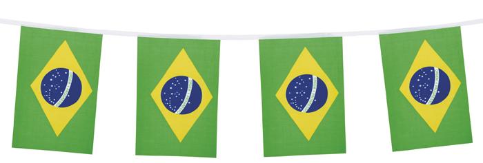 Vlaggenlijn Brazilie 4 meter
