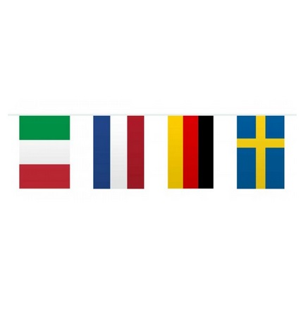 Vlaggenlijn Europa vierkant 10m