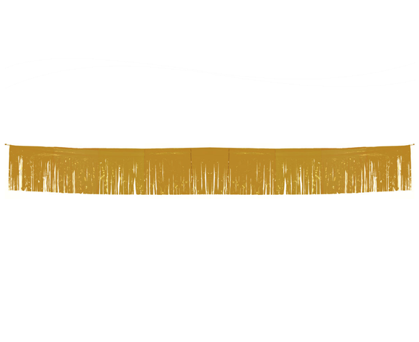 Vlaggenlijn franje goud 6 meter