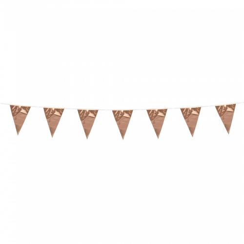 Vlaggenlijn mini effen rosé goud 3m