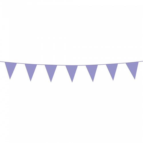 Vlaggenlijn mini lila 3m