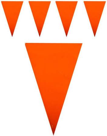 Vlaggenlijn oranje mega groot.