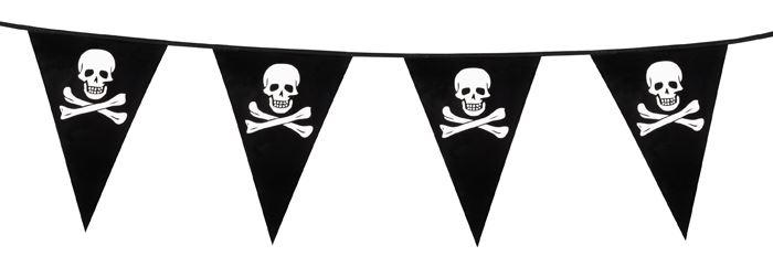 Vlaggenlijn piraat zwart