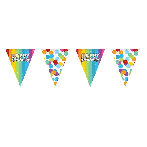 Vlaggenlijn Rainbow Birthday katoen 6m