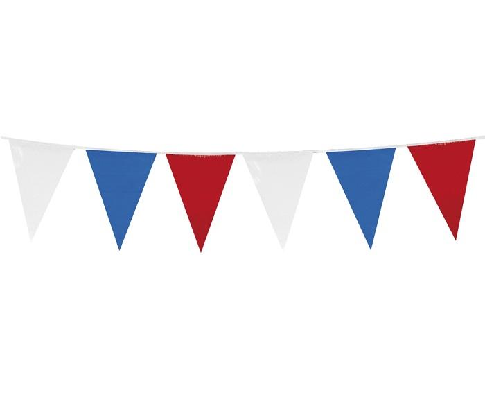 Vlaggenlijn rood wit blauw 10 meter