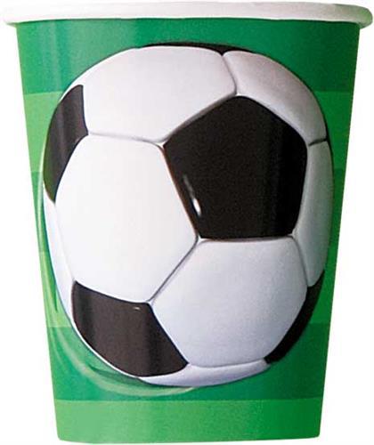 Voetbal bekertjes 8st