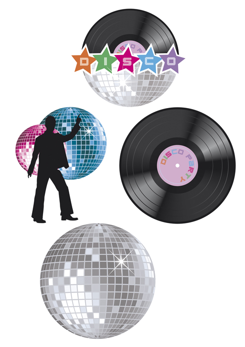 Wand decoratie disco