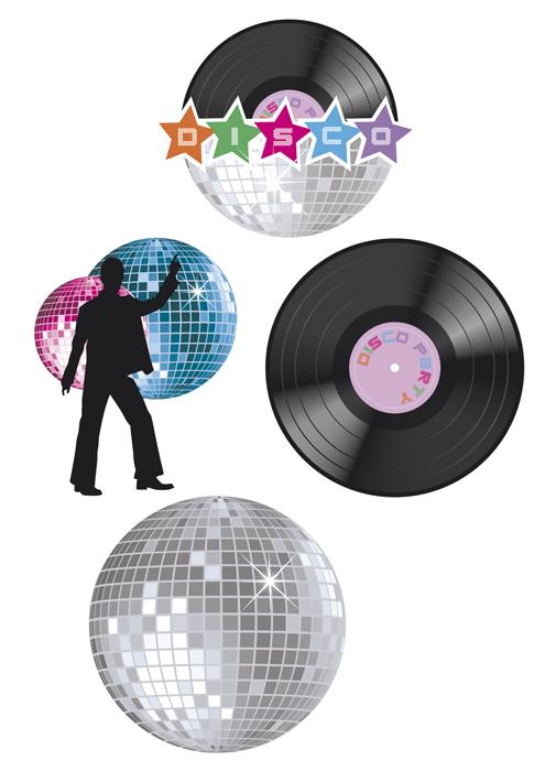 Wand decoratie disco
