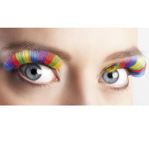 Wimpers middel regenboog