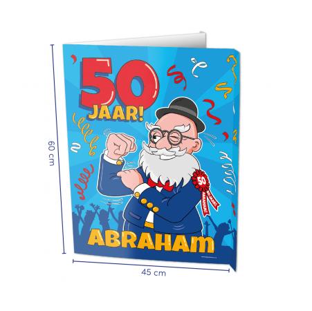 Window sign Abraham 50 jaar