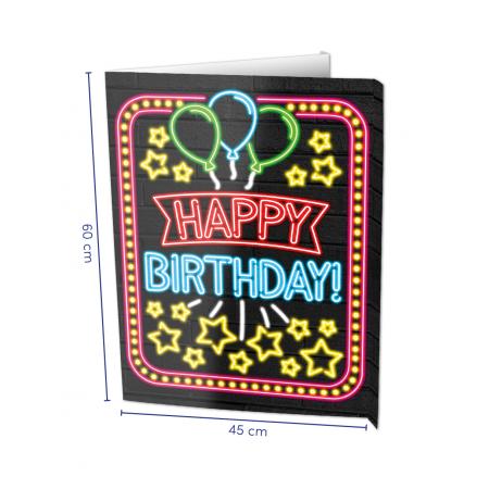 Window sign Happy Birthday