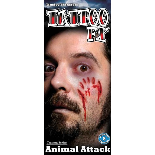 Wound tattoo animal attack