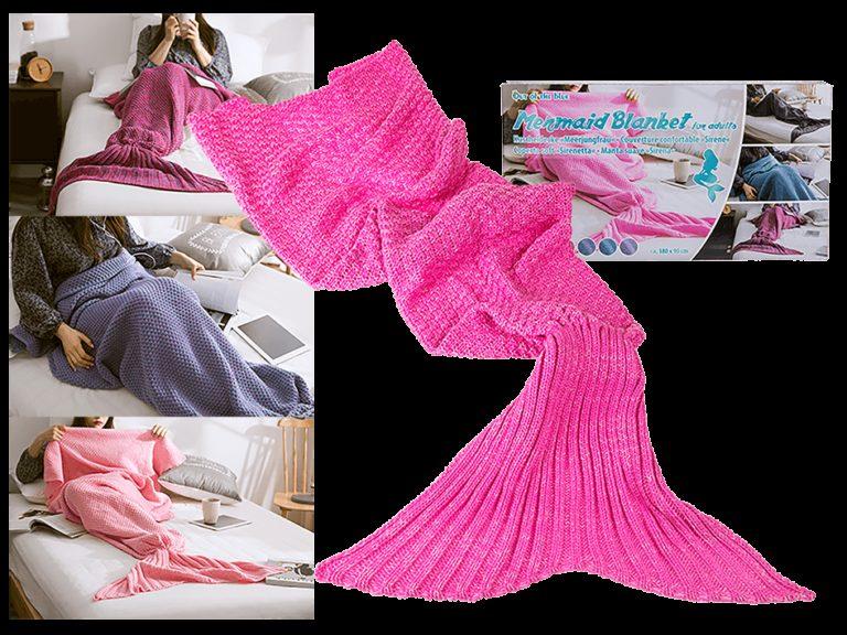 Zeemeermin deken roze - Roze