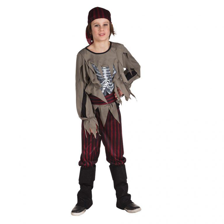 Zombie pirate kinderkosttum 10-12 jaar