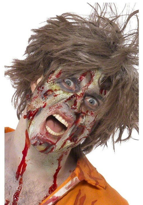 Zombie schmink set met liquid latex